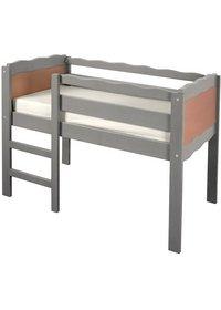 T-mobilier lit enfant Marmotte haut hêtre couleur béton 0 à 5 ans