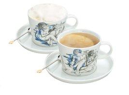 saeco caffe latte tassen blau 2 er set 830 109 112 k che haushalt. Black Bedroom Furniture Sets. Home Design Ideas