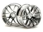 HPI Racing 3797 Split 6 Wheel 26mm chrome (2) - 1