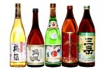 鹿児島芋焼酎おすすめ小瓶5本飲み比べセット(伊佐美・三岳・赤霧島・角玉・白玉の梅酒)