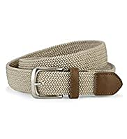 Plaited Square Buckle Stretch Belt