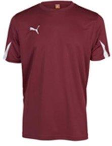 PUMA Herren T-Shirt, Team Burgundy-White, M, 701269 09