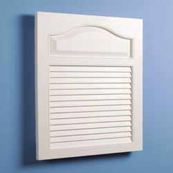 Jensen 615 Basic Louver Grained Wood Look Polystyrene Recessed Medicine Cabinet, White (14 X 24 Medicine Cabinet compare prices)