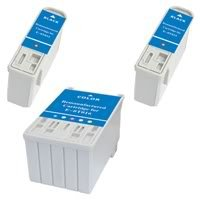 Amsahr 0T015 Remanufactured Replacement Epson Ink Cartridges for Printers/Faxes with 2 Black and 1 Color Cartridges Ink