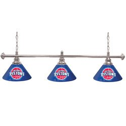 Detroit Pistons NBA 3 Shade Billiard Lamp - 60 inches by WSB