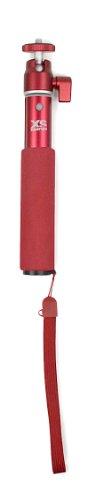 XSories - U-SHOT Perche Selfie Stick extensible Monopod téléscopique - Deep Red