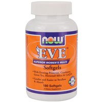 Eve Women's Multiple Vitamin, 180 Softgels by Now Foods (Pack of 6)