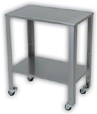 Detecto Stainless Steel Baby Scale Cart - Table with Adjustable Shelf (28 in W x 17 in D x 33 in H) - MADE IN THE USA