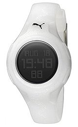 PUMA Women's PU910452003 Spin White Digital Watch