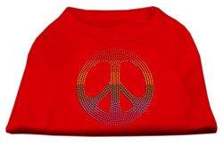 f98fb62ab1f Rhinestone Rainbow Peace Sign Shirts Red M 12 - Karen E. Baileyioz