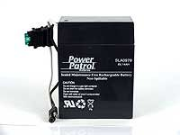 6V 14Ah SLA Battery for use with some Power Wheels Toys Trailer Style Plug