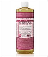 Dr. Bronner'S Organic Pure Castile Liquid Soap, Rose, 32 Oz, 2 Pk