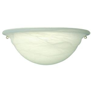 Hampton Bay 1-Light White Wall Sconce