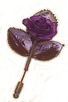 Real Rose Brooch - Purple