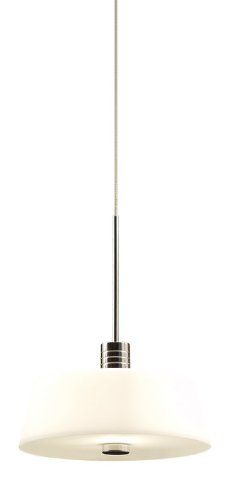 Alico Industries FRPC6301-10-15 Skeet 1-Light Ali-Jack Pendant for Canopy, White Opal Glass with Chrome Finish