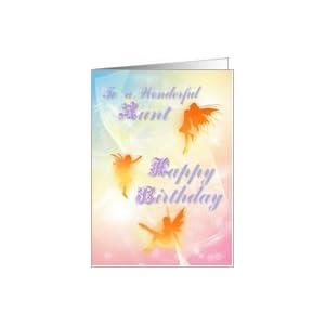 ... com: Dancing fairies Birthday card, Aunt Card: Heal