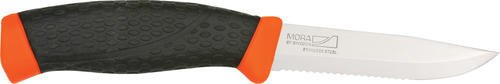 Mora of Sweden Knives 11392 Craftline Rope Fixed Blade Knife with Black Handles with Orange Trim