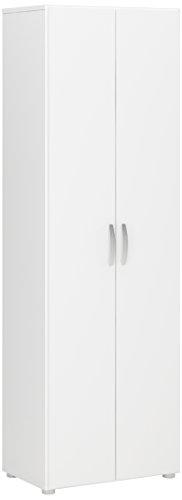 demeyere-305541-cobi-armoire-multifonctions-avec-2-portes-3-rayons-panneau-de-particules-blanc-68-x-