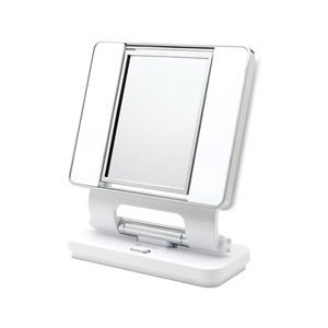 Ott-lite Natural Daylight Makeup Mirror, White/Chrome