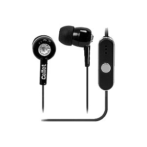 3.5mm In-Ear Stereo Hands-Free Headset (Jewel Design) for Palm Pixi (Black)