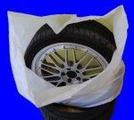Reifentaschenset 4-teilig passend für alle Reifentypen bis 22 Zoll Reifentüten Reifensäcke, Reifen Schutz, Reifenschutzhülle