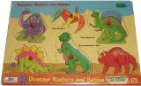 Picture of Safari Peek Inside Wood Puzzle - Dinosaur Mothers and Babies (B001NX7ILW) (Pegged Puzzles)