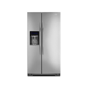 GSS30C6EYF Whirlpool 30 cu. ft. Side-by-Side Refrigerator with Tap Touch Controls - Mono Satina Steel