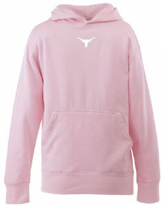 Texas YOUTH Girls Signature Hooded Sweatshirt (Pink) - Large