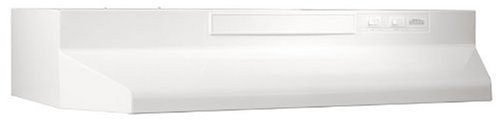 Broan F403011 30-Inch 2-Speed 4-Way Convertible Range Hood, White on White