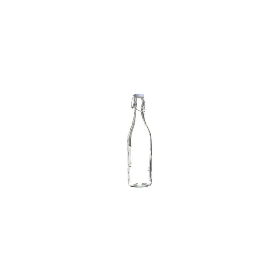 Love Bottle   1000 Ml Reusable Glass Water Bottle, Blank with Heart Lid Decorative Bottles Kitchen & Dining