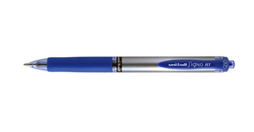 Uni-ball RT UMN-105S - Bolígrafos de punta redonda (12 unidades, tinta de gel), color azul