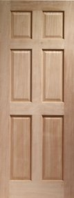 "Internal Hardwood Colonial Door 6 Panel 2032 x 813 x 35mm (32"")"