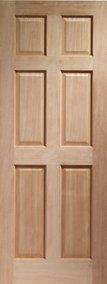 """Internal Hardwood Colonial Door 6 Panel 2032 x 813 x 35mm (32"""")"""