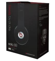 Beats Solo Hd By Dr. Dre Compact Folding On Ear Headphones Black Brand New