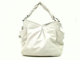 Coach Leather Parker Hobo Shoulder Bag Purse 13412 White