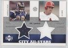 Marshall Faulk, J.D. Drew St. Louis Cardinals, St. Louis Rams (Trading Card) 2003... by Upper Deck UD Superstars