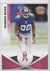 Hakeem Nicks PGG/250 #/250 New York Jets (Football Card) 2011 Breast Cancer Awareness #83 at Amazon.com