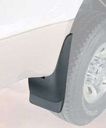 Husky Liners Custom Fit Rear Mudguard for Select Chevrolet/GMC Models - Pack of 2 (Black)