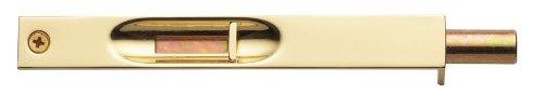 Baldwin 0626.030 6-Inch Flush Bolt, Polished Brass front-866496