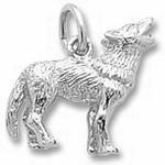Rembrandt Charms Wolf Charm - Sterling Silver