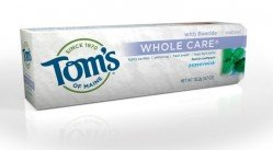 Tom's of Maine Natural Whole Care Anticavity & Tartar Control Plus Whitening Fluoride Toothpaste, Peppermint, 4.7-Ounce Tubes (Pack of 6)