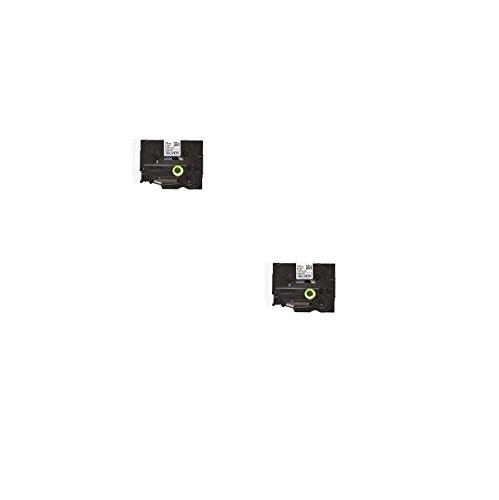 Prestige Cartridge Nastro per Etichette, Sostituisce TZSM941/TZeSM941, 18mm x 8m, 2 Pezzi, Nero su Forte Argento Opaco