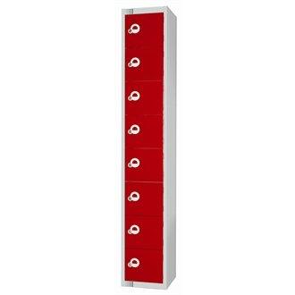 Eight Door Locker with Sloping Top