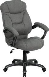 Flash Furniture GO-725-GY-GG High Back Gray Microfiber Uphol