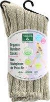 Earth Therapeutics Womens Organic Outdoor Sock Green 1 Pair