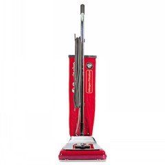 Heavy-Duty Commercial Upright Vacuum, Micron Filtration, 18 Lbs, Chrom