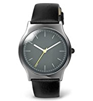 Round Face Analogue Slimline Watch