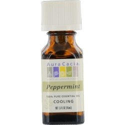 ESSENTIAL OILS AURA CACIA by PEPPERMINT-ESSENTIAL OIL .5 OZ