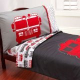 Carter's 4 Piece Toddler Bed Set, Fire Truck