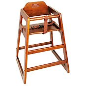 Winco Chh-104 Unassembled Wooden High Chair, Walnut front-14219
